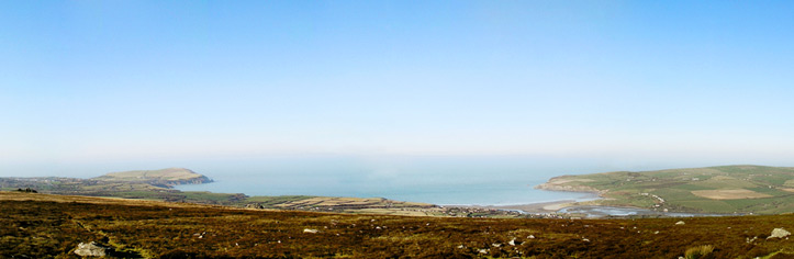 View of Newport Pembrokeshire from the Preseli Hills.
