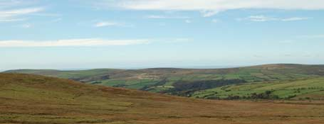 Panoramic of the Preseli Hills in Wales