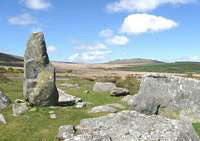Standing stones on the Preseli Hills